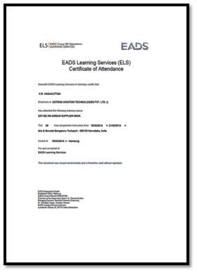 Supplier Qualification Certificate